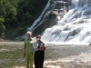 Laurie Nuzum Graham and Carol McAmis at IthacaFalls